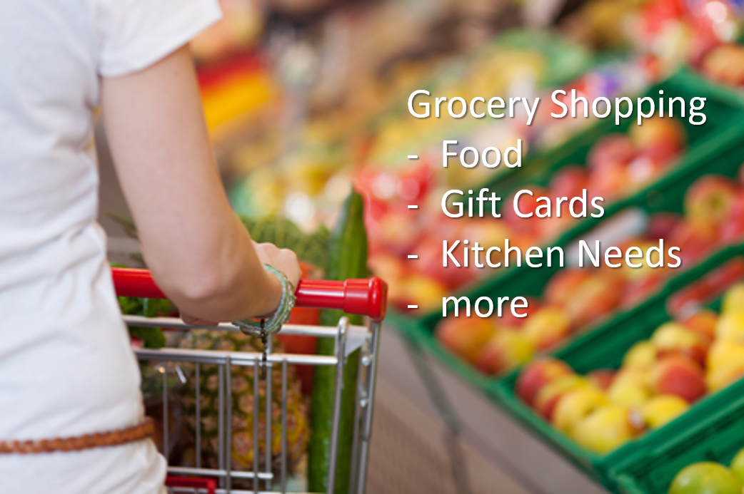 Online Grocery, Gift Cards and Kitchen Needs